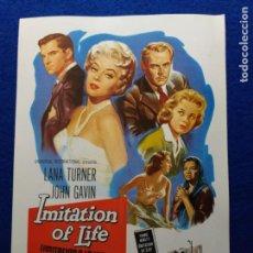 Cine: GUIA PUBLICITARIA ORIGINAL DE LA PELÍCULA: IMITACION A LA VIDA (IMITATION OF LIVE) DE DOUGLAS SIRK. Lote 152284858
