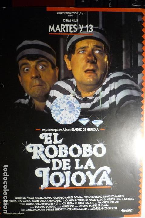 GUIA EL ROBO DE LA JOJOYA -MARTES Y 13 (Cine - Guías Publicitarias de Películas )