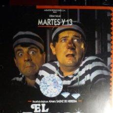 Cine: GUIA EL ROBO DE LA JOJOYA -MARTES Y 13. Lote 152842770