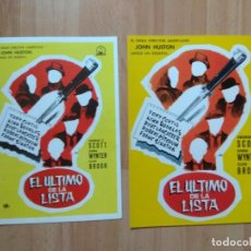 Cinéma: A-GUIA DE LA PELICULA -: EL ULTIMO DE LA LISTA. Lote 152912026