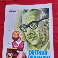 Cine: GUIA PUBLICITARIA. QUERIDO PROFESOR. ALFONSO PASO, JAVIER SETO.. Lote 153156114