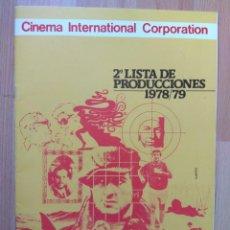 Cine: A--LISTA DE MATERIAL CINEMA INTERNACIONAL 1978-79. Lote 153224154