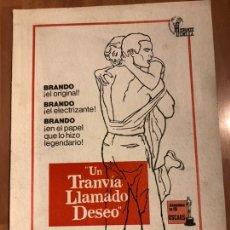 Cine: GUIA UN TRANVÍA LLAMADO DESEO.MARLON BRANDO VIVIEN LEIGH. Lote 153864388