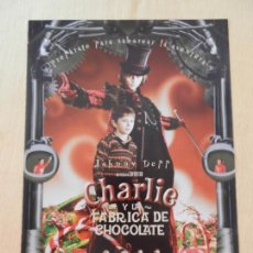 Cine: GUÍA DE CINE DE LA PELÍCULA CHARLIE Y LA FÁBRICA DE CHOCOLATE. . Lote 154445290