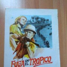 Cine: H---GUIA DE LA PELICULA FUGA EN EL TROPICO. Lote 154504470