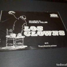 Cine: GUIA DE 8 PAGINAS - LOS CLOWNS - MERCURIO FILMS. Lote 155440990