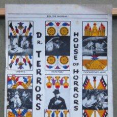 Cine: G8942 DR TERROR PETER CUSHING CHRISTOPHER LEE GUIA ORIGINAL INGLESA ESTRENO. Lote 155645242