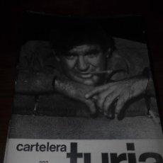Cine: CARTELERA TURIA 303 NOVIEMBRE 1969. Lote 155709010