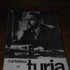 Cine: CARTELERA TURIA 300 OCTUBRE 1969. Lote 155709526