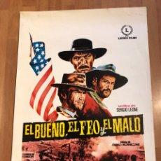 Cine: GUIA ORIGINAL EL BUENO EL FEO Y EL MALO DE SERGIO LEONE.CLINT EASTWOOD ELI WALLACH LEE VAN CLEEF. Lote 155934256