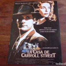 Cine: LA CASA DE CARROLL STREET - KELLY MCGILLIS,JEFF DANIELS,JESSICA TANDY - GUIA ORIGINAL LAUREN AÑO1987. Lote 156223334