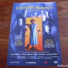 Cine: CONSEJOS MORTALES - BRENDA FRICKER, IMELDA STAUNTON - GUIA ORIGINAL VHERO FILMS AÑO 1994. Lote 176861179
