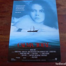 Cine: CALMA TOTAL - NICOLE KIDMAN, SAM NEILL, BILLY ZANE - GUIA ORIGINAL WARNER AÑO 1989. Lote 176861199