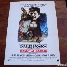 Cine: YO SOY LA JUSTICIA - CHARLES BRONSON, JILL IRELAND, TONI FRANCIOSA - GUIA ORIGINAL COLUMBIA AÑO 1981. Lote 156698174