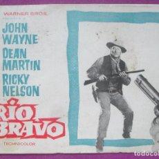 Cine: GUIA PUBLICITARIA, RIO BRAVO, JOHN WAYNE, DEAN MARTIN, RICKY NELSON, G262. Lote 157001314