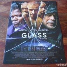 Cine: GLASS CRISTAL - JAMES MCAVOY,BRUCE WILLIS,SAMUEL L. JACKSON - GUIA ORIGINAL UNIVERSAL AÑO 2018. Lote 157061090