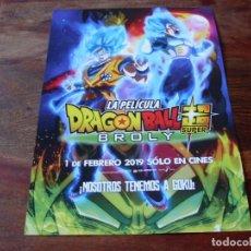 Cine: LA PELICULA DRAGONBALL SUPER BROLY - ANIMACION - GUIA ORIGINAL FOX AÑO 2019. Lote 157066962
