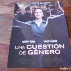 Cine: UNA CUESTION DE GENERO - FELICITY JONES, ARMIE HAMMER - GUIA ORIGINAL EONE AÑO 2018. Lote 157107858