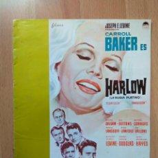 Cine: G-GUIA DE LA PELICULA-- HARLOW LA RUBIA PLATINO. Lote 157439558