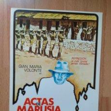 Cinéma: I---GUIA DE LA PELICULA-- ACTAS DE MARUSIA. Lote 157833954