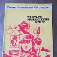 Cine: GUÍA CATÁLOGO LISTA DE MATERIAL PELÍCULAS CINEMA INTERNATIONAL 1978/1979. Lote 158133194