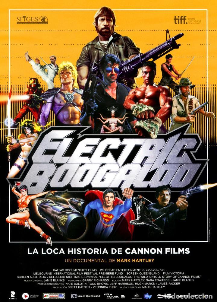 ELECTRIC BOOGALOO LA LOCA HISTORIA DE CANNON (GUÍA ORIGINAL SIMPLE CON FOTOS ESTRENO EN ESPAÑA) (Cine - Guías Publicitarias de Películas )