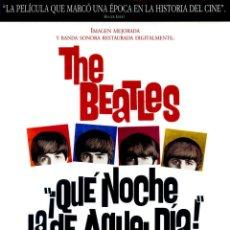 Cine: ¡QUE NOCHE LA DE AQUEL DÍA! (GUÍA ORIGINAL SIMPLE CON FOTOS) THE BEATLES. Lote 179323288