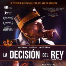 Cine: LA DECISIÓN DEL REY (GUÍA ORIGINAL SIMPLE CON FOTOS DE SU ESTRENO EN ESPAÑA). Lote 215337000