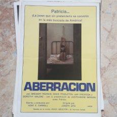 Cine: LOTE 16 GUIAS PUBLICITARIAS CINE PELICULAS EROTICO AÑOS 70-80. Lote 158810218