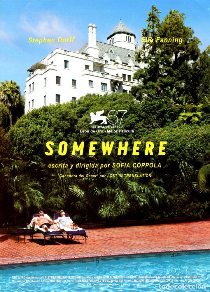 SOMEWHERE (GUÍA ORIGINAL SIMPLE DE SU ESTRENO EN ESPAÑA) (Cine - Guías Publicitarias de Películas )