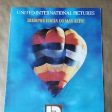 Cine: GUÍA CATÁLOGO LISTA DE MATERIAL PELÍCULAS UNITED INTERNATIONAL PICTURES 1988 1989. Lote 158873258