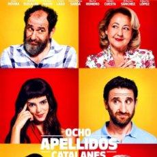 Cine: OCHO APELLIDOS CATALANES (GUÍA ORIGINAL DOBLE CON FOTOS DE SU ESTRENO EN ESPAÑA) DANI ROVIRA. Lote 195027245