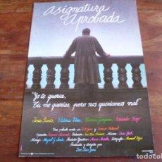 Cinéma: ASIGNATURA APROBADA - JESUS PUENTE, VICTORIA VERA - DIR. J.L. GARCI - GUIA ORIGINAL U.I.P AÑO 1987. Lote 161082101