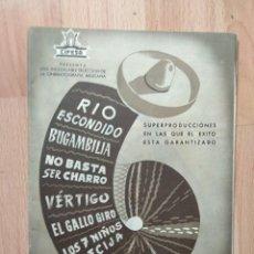 Cine: D-GUIA DE LA PELICULA- LISTA DE MATERIAL CIFESA RIO ESCONDIDO Y 5 MAS. Lote 159241314