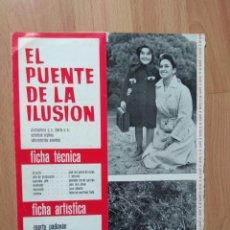 Cine: D-GUIA DE LA PELICULA- EL PUENTE DE LA ILUSION. Lote 159246358