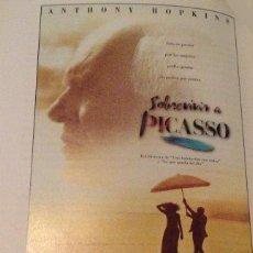 Cine: 'SOBREVIVIR A PICASSO', CON ANTHONY HOPKINS. BIOPIC SOBRE EL PINTOR ANDALUZ. GUÍA DE CINE UNA HOJA.. Lote 159423482