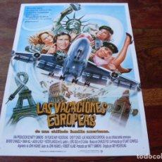 Cine: LAS VACACIONES EUROPEAS - CHEVY CHASE, BEVERLY D'ANGELO, ERIC IDLE - GUIA ORIGINAL WARNER AÑO 1986. Lote 159613690