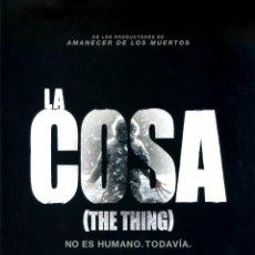 Cine: LA COSA (GUÍA ORIGINAL DOBLE CON MUCHAS FOTOS DE SU ESTRENO EN ESPAÑA). Lote 191884125