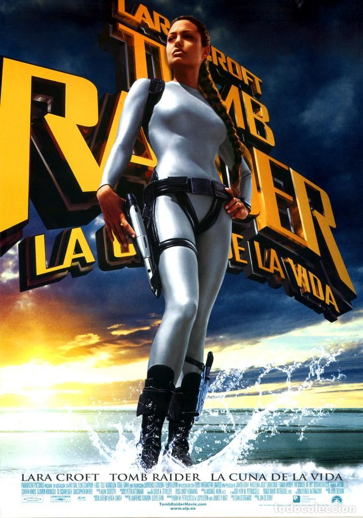 TOMB RAIDER LA CUNA DE LA VIDA (GUÍA ORIGINAL DOBLE CON FOTOS ESTRENO EN ESPAÑA) ANGELINA JOLIE (Cine - Guías Publicitarias de Películas )