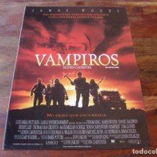 Cine: VAMPIROS DE JOHN CARPENTER - JAMES WOODS, SHERYL LEE, TIM GUINEE - GUIA ORIGINAL COLUMBIA AÑO 1998. Lote 176861344