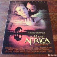 Cine: SOÑE CON AFRICA - KIM BASINGER, VINCENT PEREZ, EVA MARIE SAINT - GUIA ORIGINAL COLUMBIA AÑO 2000. Lote 160029978