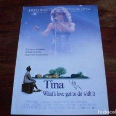 Cine: TINA - ANGELA BASSETT, LAURENCE FISHBURNE - GUIA ORIGINAL CB FILMS AÑO 1993. Lote 160298914