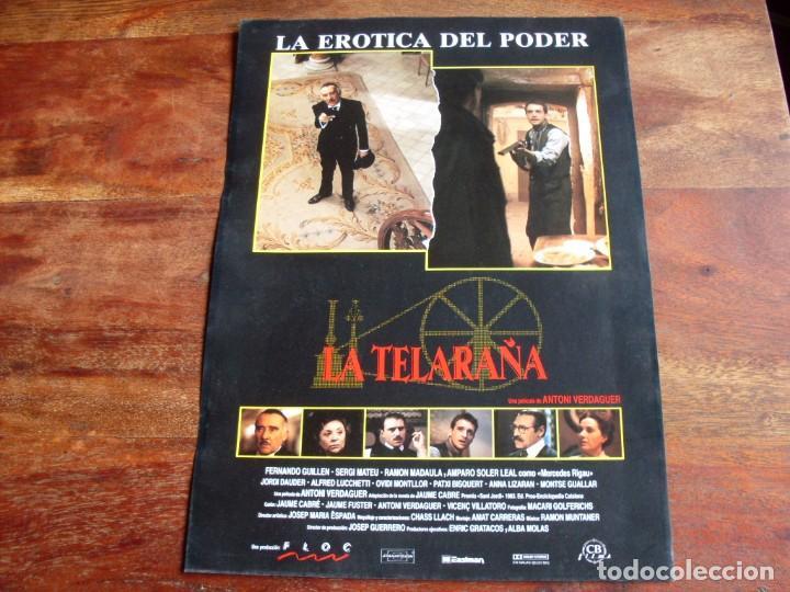 LA TELARAÑA - FERNANDO GUILLEN,AMPARO SOLER LEAL,SERGE MATEU - GUIA ORIGINAL CB FILMS AÑO 1990 (Cine - Guías Publicitarias de Películas )