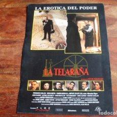 Cine: LA TELARAÑA - FERNANDO GUILLEN,AMPARO SOLER LEAL,SERGE MATEU - GUIA ORIGINAL CB FILMS AÑO 1990. Lote 160877582