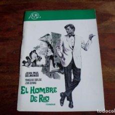 Cinéma: EL HOMBRE DE RIO - JEAN PAUL BELMONDO, JEAN SERVAIS,SIMONE RENANT - GUIA ORIGINAL CB FILMS AÑO 1977. Lote 161006810