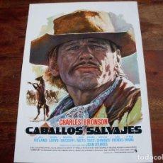 Cine: CABALLOS SALVAJES - CHARLES BRONSON,JILL IRELAND - DIR.JOHN STURGES - GUIA ORIGINAL C.I.C 1973 MAC. Lote 161160478
