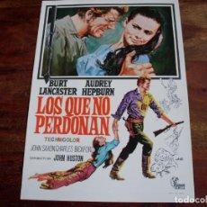 Cine: LOS QUE NO PERDONAN - BURT LANCASTER, AUDREY HEPBURN - GUIA ORIGINAL HISPAMEX AÑO 1960 JANO. Lote 179149100