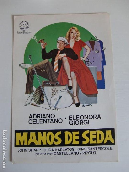 GUIA DE CINE ORIGINAL ESTRENO / MANOS DE SEDA / ADRIANO CELENTANO (Cine - Guías Publicitarias de Películas )
