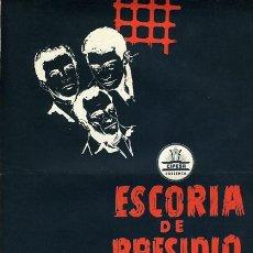 Cinema: GUIA CINE , ESCORIA DE PRESIDIO , DOBLE HOJA , ORIGINAL , G1482. Lote 162038894