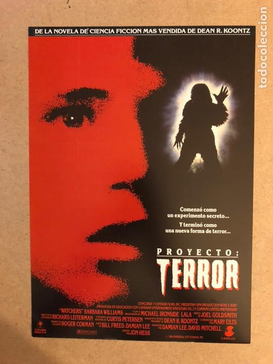 PROYECTO: TERROR. GUÍA PUBLICITARIA SIMPLE. IDEAL PARA ENMARCAR. (Cine - Guías Publicitarias de Películas )